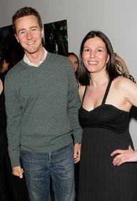 Edward Norton and Dara Caponigro at Domino Magazines Green party.