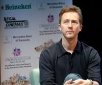 Edward Norton at the Asolo Theater during the Sarasota Film Festival.
