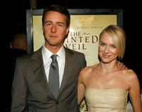 Edward Norton and Polly Cohen at the premiere of