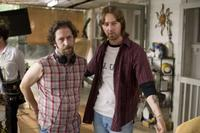 Tim Blake Nelson and Edward Norton on the set of