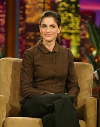 Amanda Peet at The Tonight Show with Jay Leno.
