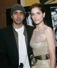 Kal Penn and Amanda Peet at the special screening of