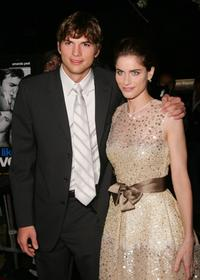 Ashton Kutcher and Amanda Peet at the special screening of