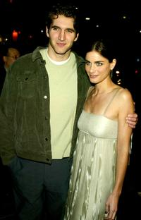 David Benoit and Amanda Peet at the premiere of