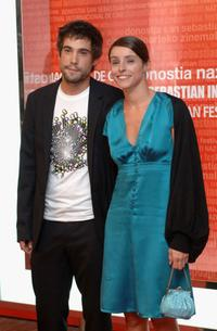 Ingrid Rubio and Unax Ugalde at the 53rd San Sebastian International Film Festival closing ceremony.