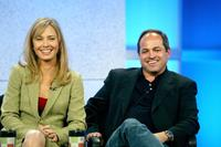 Susanna Thompson and Flody Suarez at the NBC 2005 Television Critics Association Summer Press Tour.