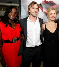 Rutina Wesley, Sam Trammell and Anna Paquin at the Los Angeles premiere of