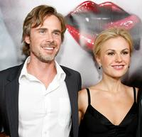 Sam Trammell and Anna Paquin at the Los Angeles premiere of