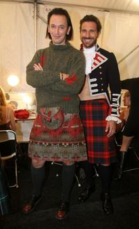 Steve Valentine and Ed Quinn at the 2006 fashion show during the Mercedes Benz Fashion Week.