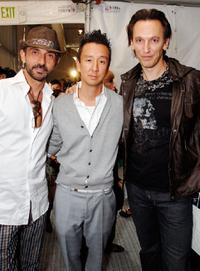 Shaun Toub, Eric Kim and Steve Valentine at the Monarchy Collection Spring 2008 fashion show during the Mercedes-Benz Fashion Week.