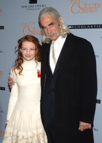 Dakota Blue and Sam Elliott at the premiere of