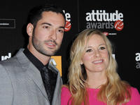 Tom Ellis and Tamsin Outhwaite at the Attitude Magazine Awards in England.