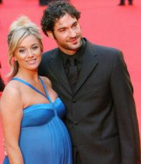 Tamzin Outhwaite and Tom Ellis at the annual British Academy Television Awards.