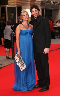 Tamzin Outhwaite and Tom Ellis at the British Academy Television Awards 2008.