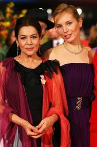 Hannelore Elsner and Nadja Uhl at the 58th Berlinale Film Festival.