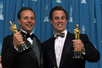 Scott Millan and Bob Beemer at the 73rd Annual Academy Awards ceremony.