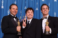 Scott Millan, Mike Myers and Bob Beemer at the 73rd Annual Academy Awards ceremony.
