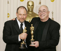 Michael Silvers and Randy Thom at the 77th Annual Academy Awards.