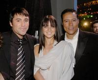 Oscar de la Hoya, Millie Corretjer and Yancey Arias at the People En Espanol's 25 Most Beautiful Celebrity Gala.