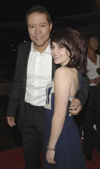 Yancey Arias and Mae Whitman at the premiere of