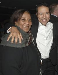 Yancey Arias and his mother Maria at the after party of the premiere of