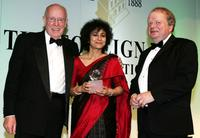 Richard Wilson, Irene Khan and John Sergeant at the Press Association Annual Awards.