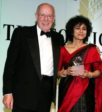 Richard Wilson and Irene Khan at the Press Association Annual Awards.