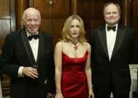 Richard Wilson, Gillian Anderson and Clive Anderson at the Foreign Press Association Media Awards.