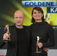 Christian Berkel and Anja Kling at the Goldene Kamera 2009 press conference.