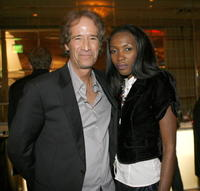 John Bloom and Pendo Nyinondi at the after party of the Hollywood Reporter Key Art Awards.