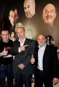 Antonio Molero, Antonio Resines and Jesus Bonilla at the photocall of