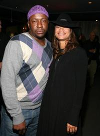Bobby Brown and Alicia Etheridge at the premiere of