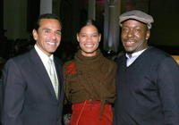 Antonio Villaraigosa, Alicia Etheridge and Bobby Brown at the 2008 Spring Collection.