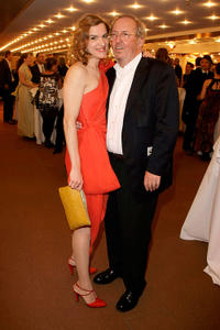 Inga Busch and Vadim Glowna at the Hesse Movie Award 2009 in Germany.