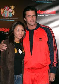 John Enos and guest at the Dodgeball: The Celebrity Tournament to benefit the Elizabeth Glaser Pediatric Aids Foundation and celebrate the DVD Release of