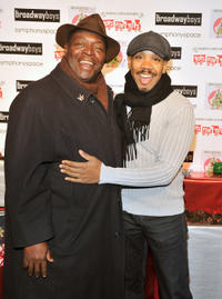 Chuck Cooper and Darius De Hass at the 5th Annual Broadway Sings for Toys.