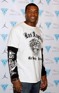 Roger R. Cross at the Launch Party For Jordan Melo M4.