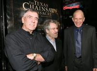 R. Lee Ermey, Tobe Hooper and Terrence Evans at the premiere of
