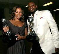 Omar Epps and Vanessa Williams at the 38th Annual NAACP Image Awards - Backstage.