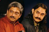 Manohar Parrikar and Aamir Khan at the inauguration of the 35th International Film Festival of India 2004 (IFFI).