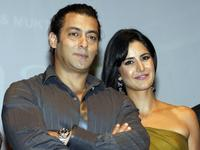 Salman Khan and Katrina Kaif at the publicity event in Mumbai.