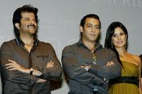 Anil Kapoor, Salman Khan and Katrina Kaif at the publicity event in Mumbai.