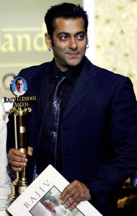 Salman Khan at the tenth Rajiv Gandhi Award's.