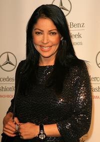 Apollonia Kotero at the Mercedes Benz Fashion Week.