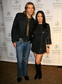 Chaz Dean and Apollonia Kotero at the Mercedes Benz Fashion Week.