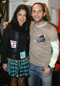 Apollonia Kotero and Custo Barcelona at the Custo Barcelona Collection Spring 2005 show during the Mercedes-Benz Fashion Week.