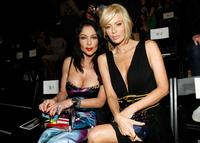 Apollonia Kotero and Jenna Jameson at the Pussycat Dolls by Robin Antin Fall 2008 fashion show during the Mercedes-Benz Fashion Week.