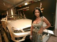 Apollonia Kotero at the Mercedes-Benz Fashion Week.