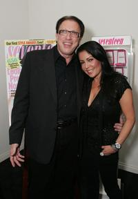 Steven Zale and Apollonia Kotero at the Seventeen Jewelry Collection launch party at Ketchup.