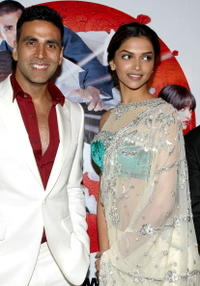 Akshay Kumar and Deepika Padukone at the special screening of